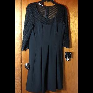 Size 8, 9 west black a-line cocktail dress